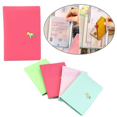 Faux Leather Travel Passport Case Holder Ticket ID Card Cover Protect Cover