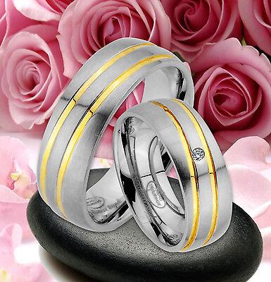 2 Ringe Trauringe Eheringe Partnerringe Dr. Mit Stein , Gravur Gratis ,* Je76-1 Produkte HeißEr Verkauf