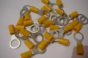 25-pack-of-yellow-10-5mm-ring-terminal-crimp-connector-for-10mm-bolt-screw