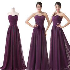 Long Chiffon Formal Party Bridesmaid Dresses Evening Prom Dress PURPLE Ball Gown