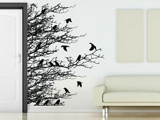 Wall Decal Vinyl Sticker Corner Leaves Plants Birds Flower Branch Trees r1031