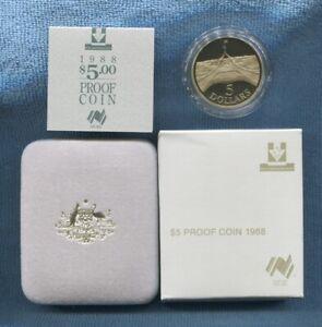 1988 Proof $5 Australia Parliament House Coin