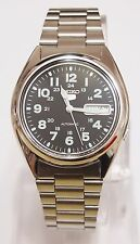 SEIKO 5 SNX809K1 Stainless Steel Band Automatic Men's Black Watch 100% New