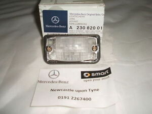Genuine-Mercedes-Benz-C209-CLK-Rear-Number-Plate-Lens-A2308200166-NEW