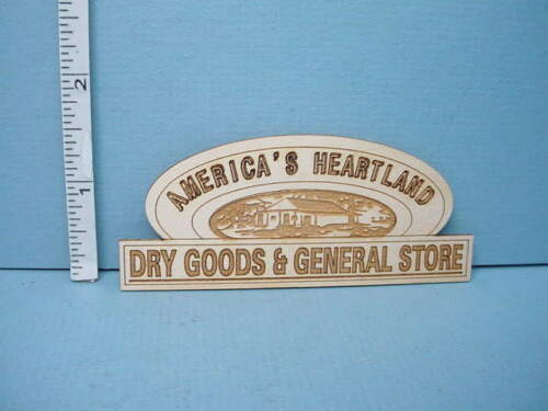 "Miniature /""Dry Goods and General Store/"" Sign Dragonfly Int/'l  1//12th Scale"