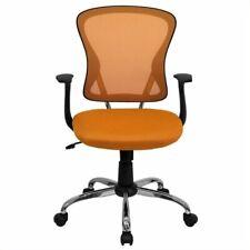Scranton Amp Co Mid Back Mesh Office Chair In Orange