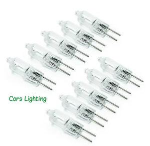 10pcs g4 12v 20w 20watt halogen light lighting lamp bulb us ship