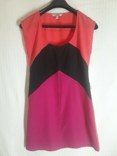 Speechless Multicolor Sleeveless Elastic Waist Belted Back Cut Out Dress Size M