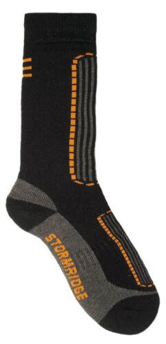 Storm Ridge Mens 2 Pack Ski Socks UK 7-11 Black /& Blue