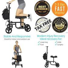 Knee Scooter By Vive Steerable Kneeling Walker For Broken Leg And