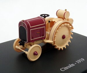 Hachette-Tractor-de-modelo-de-escala-1-43-HT123-1919-Citroen-Beige