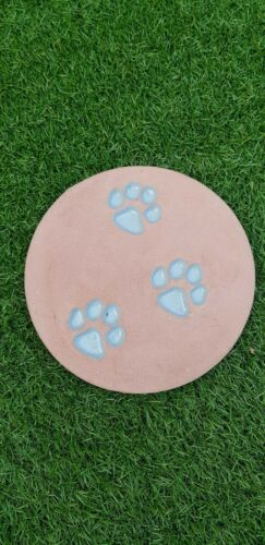 3 er Set Trittsteine mit Hundepfoten Abdruck