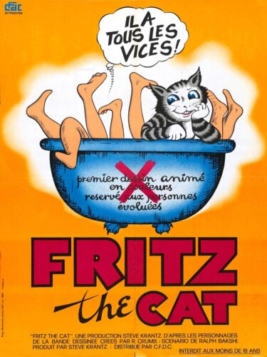 1972 Adult//Indie film Fritz the Cat Movie POSTER
