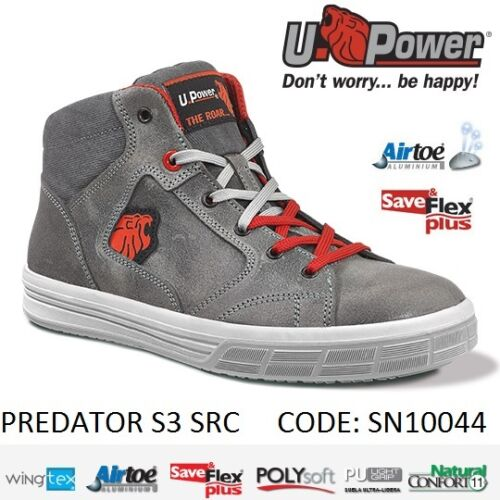 Upower Scarpa da lavoro antinfortunistica PREDATOR S3 SRC U-POWER SN10044