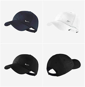 Nike Boys Junior Swoosh Cap Kids Metal logo Baseball Golf Hat Black ... f65c8fd8e7d