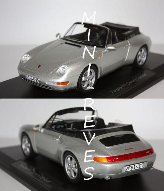 Norev Porsche 911 Carrera Cabriolet 1993 Silver 1/18 187592 8