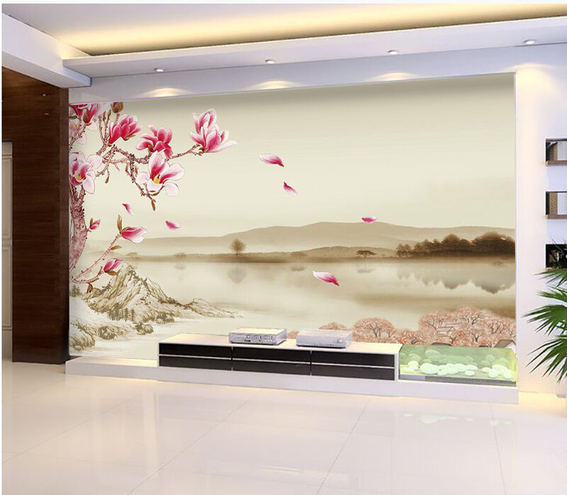 3D Mountain Flowers Painting 88 Wall Paper Wall Print Decal Wall AJ WALLPAPER CA