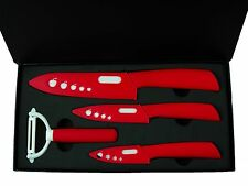 "3""+ 4""+ 6""+Peeler Ultra Sharp Kitchen Ceramic knife Set Cutlery straight gift"