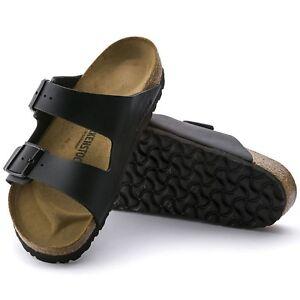 Birkenstock Arizona Sandali Stretto Nero Sandali Pantofole 051793 NUOVO