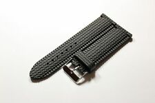 Silikon Ersatz Uhrenarmband Uhr Armband Silicon Rubber Watch Strap schwarz 24 mm