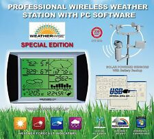 PROFESSIONAL PRO WIRELESS HOME WEATHER STATION SOLAR POWERED SENSORS ATOMIC TIME