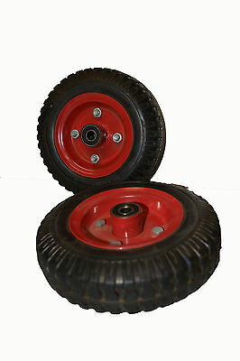 Solid Rubber Wheel 200mm x 50 mm with 12 mm bearings
