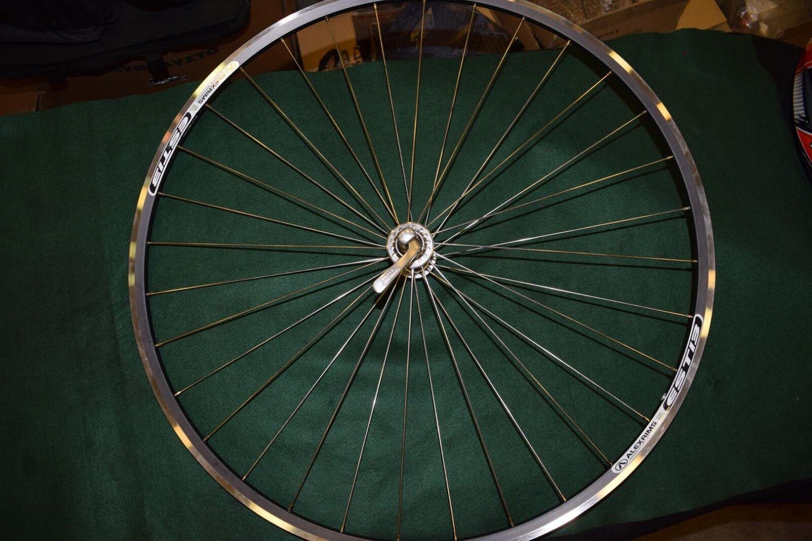 Alexrims & Shimano Ultegra hub 700C front road racing wheel 622x13 alloy 660g