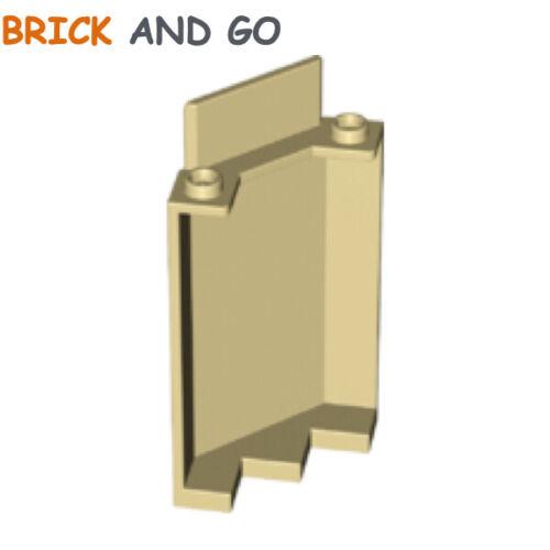 Corner Wall Panel 3x3x6 Wry NEUF NEW 2 x LEGO 87421 Mur De Coin beige, tan