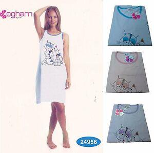Camicia-da-notte-Canotte-con-Spalla-Larga-Donna-OGHAM-24956-100-Cotone