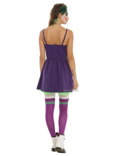 Details about  /DC Comics Batman Joker Elevated Dress Cosplay Costume Purple Green JRS SMALL NEW