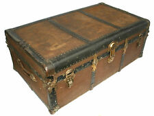 Vintage Flat Top Steamer Trunk