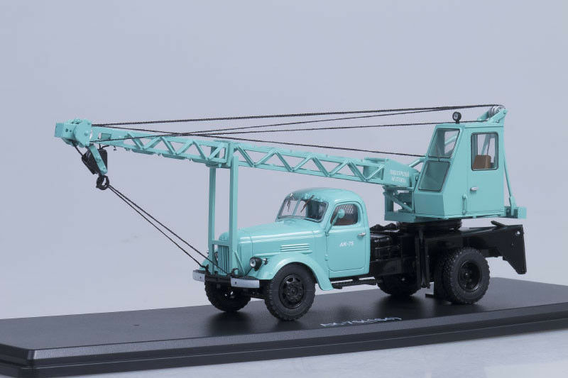 AK-75 USSR crane on ZIL 164 chassis VDNH exhibition cyan  1 43 Start Scale Model