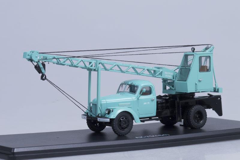 Grúa URSS AK-75 en chasis vdnh exposición Cian ZIL 164 modelo de escala 1 43 de inicio