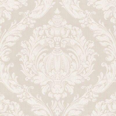 Vlies Tapete Barock Ornamente P+S 03926-70 Crash Labyrinth Creme Weiß EDEL