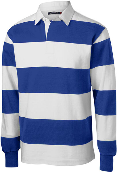 $197 Pacific /& Park Men/'s Red White Striped Rugby Long-Sleeve Polo Shirt Size XL