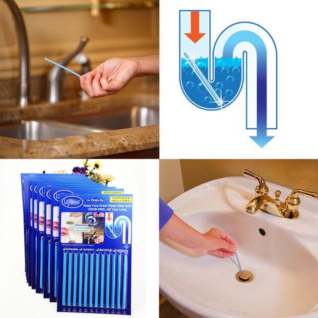Superb 12Pcs Sani Sticks Drain Cleaner Odor Remover Kitchen Bath Tub Sink Cleaning Tool Download Free Architecture Designs Embacsunscenecom