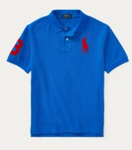 NWT-POLO-RALPH-LAUREN-TODDLER-BOYS-NEW-IRIS-BLUE-BIG-PONY-RUGBY-SHIRT