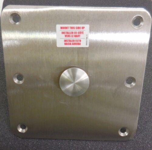 "BOBS MACHINE SHOP PEDESTAL DECK PLUG 0.75/"" BRUSHED ALUMINUM NITRO TRITON SKEETER"