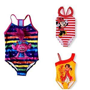 47e7a6e25b205 Girls' One-Piece Swimsuit Disney Minnie Mouse Elena of Avalor Trolls ...