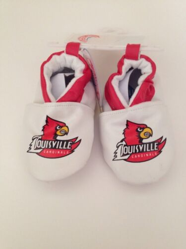 NCAA Louisville Cardinals Baby Boy Girl Booties Soft Shoes Size 3 6 9 12 Months