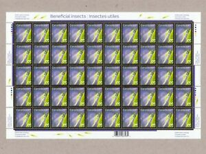 ma-ERROR-Variety-Sheet-50-definitive-stamps-Insects-Canada-2007-2235a-ec98