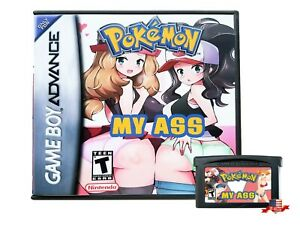 Pokemon-My-Ass-Game-Case-Gameboy-Advance-GBA-USA-Seller-So-Funny