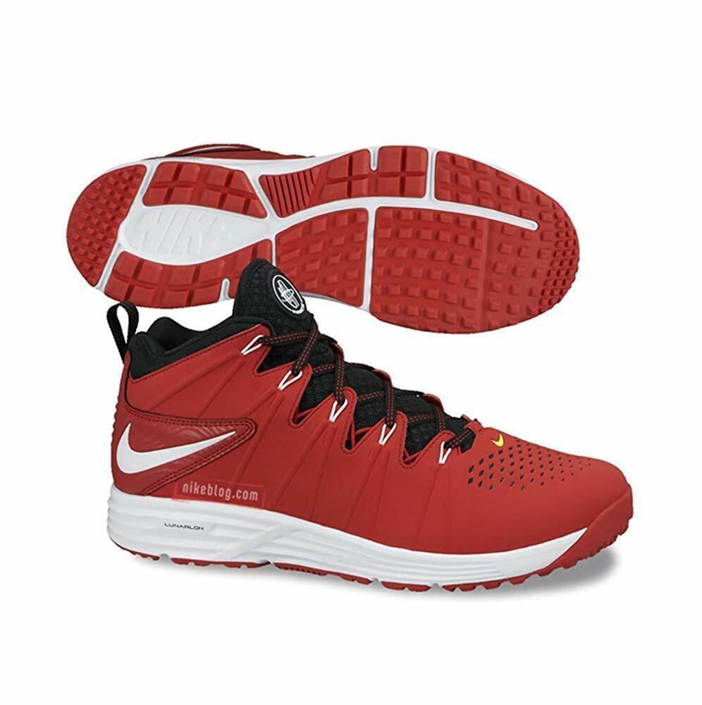 Nike HUARACHE LAX TURF University Red Men's Athletic shoes 8.5