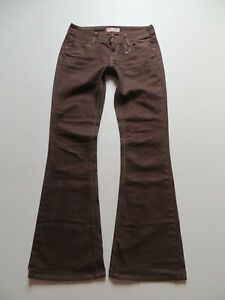 Levi-039-s-479-Booty-Flare-Schlag-Jeans-Hose-W-30-L-34-BRAUN-Hippie-Schlaghose