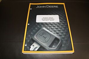 john deere 50c zts excavator repair service technical manual ebay rh ebay com John Deere 400 Series Excavator John Deere Excavators Toys