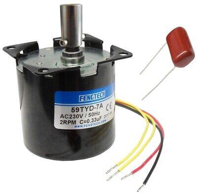 60mm 4W AC Synchron-Getriebemotor 230V//50Hz Aufnahme f 8mm-Grillspieß 2RPM