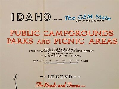 1950\'s Idaho Public Campgrounds Parks Picnic Areas vintage ...