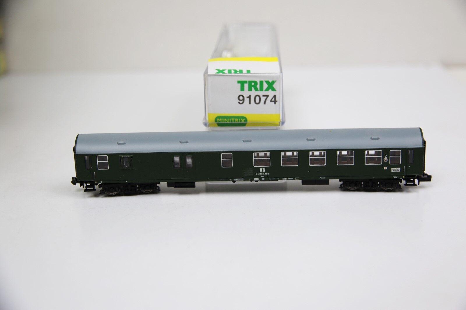 Minitrix Spur N 91074 mezza Borsaagli carrello 2. classe verde delle DR in scatola originale  rb7697