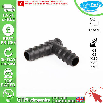 16mm Autopot Elbow - Qty: 1/5/10/20/50 - Gtp Hydroponics Hot Sale 50-70% Korting