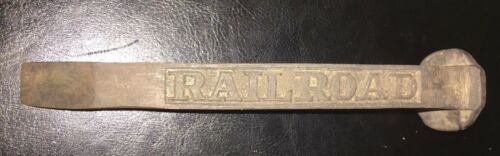 Cast Iron Railroad Spike Beer Bottle Opener Antique Style Railroadania Vtg Style